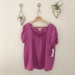 ALLISON TAYLOR short sleeve top shirt XL new